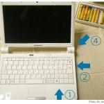 じーっと外観観察。Lenovo IdeaPad S10eモニター(3)