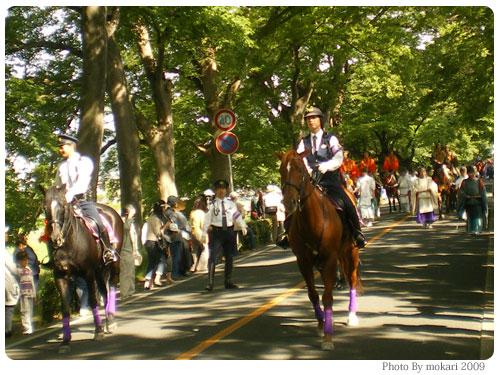 葵祭行列 2009年 先頭の馬に乗った警官