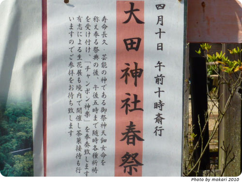 20100412-10 京都市花見:大田神社2010年