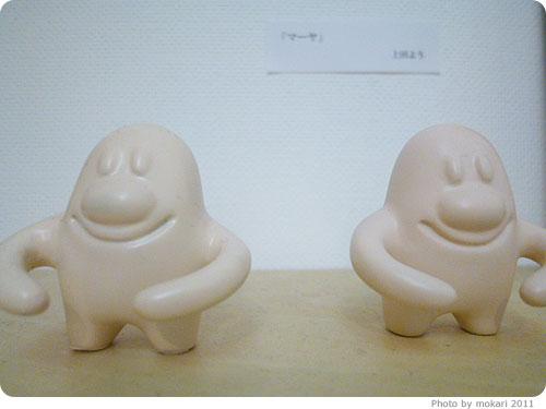 20110905-8 上田よう氏(にほんあし)の絵を、京都出町柳でみる