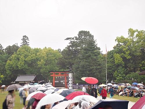 P5152776 雨の葵祭(2014年)上賀茂神社でみる