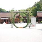 上賀茂神社で茅の輪(ちのわ)を見ました