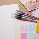 少女マンガ雑誌「なかよし」9月号付録まんが家セットで漫画を描くことすごいと感動