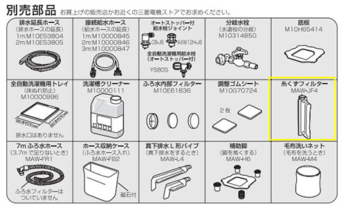 三菱全自動電気洗濯機 P48 より