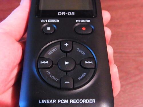 R1157756 夫へ録音するやつ(TASCAM DR-5)をプレゼント