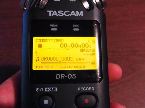 R1157757 夫へ録音するやつ(TASCAM DR-5)をプレゼント
