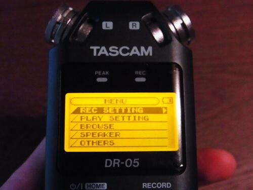 R1157758 夫へ録音するやつ(TASCAM DR-5)をプレゼント