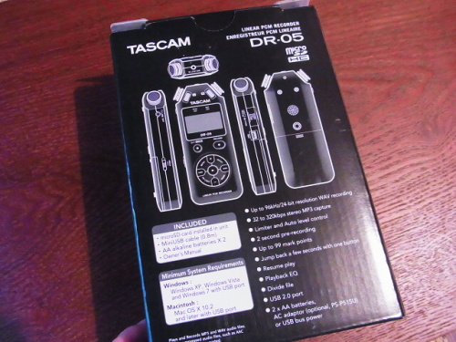R1157759 夫へ録音するやつ(TASCAM DR-5)をプレゼント